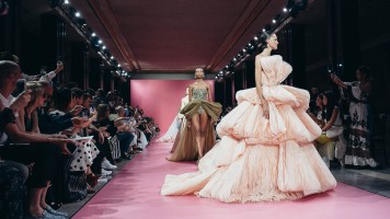 Mandatory Credit: Photo by CAROLINE BLUMBERG/EPA-EFE/Shutterstock (10325517an) Models present creations from the Fall/Winter 2019/2020 Haute Couture collection by Lebanese designer Georges Hobeika during the Paris Fashion Week, in Paris, France, 01 July 2019. The presentation of the Haute Couture collections runs from 30 June to 4 July 2019. Georges Hobeika - Runway - Paris Fashion Week Haute Couture F/W 2019/2020, France - 01 Jul 2019